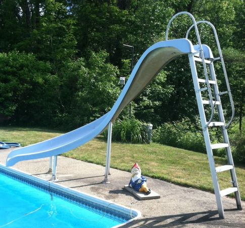 Exciting in ground swimming pool slide designs