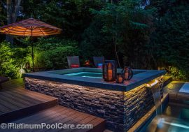Highland Park Residence - MDesign, LLC, Creative Concrete, Platinum Poolcare, NightLight