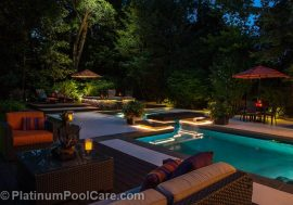 Highland Park Residence - MDesign, LLC, Creative Concrete, Platinum Poolcare, NightLight